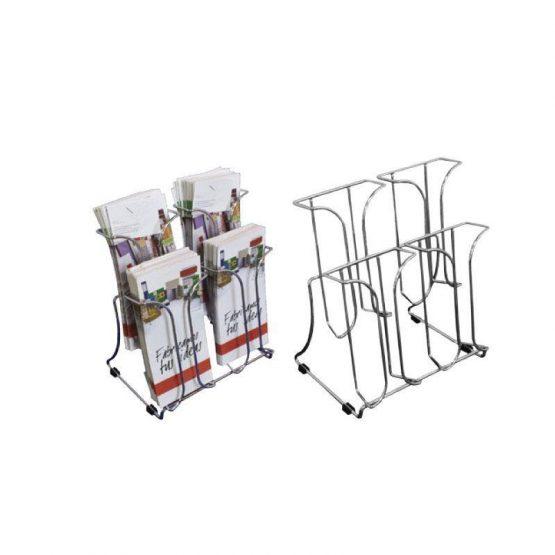 Porta Folletos Metálicos de Sobremesa o Pared modelo varilla acero