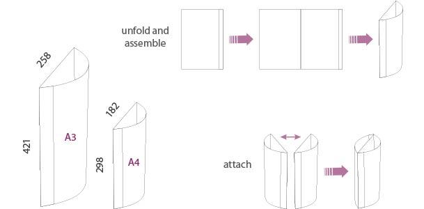 Porta Gráfica Curva en PVC medidas