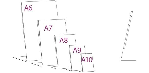 Porta Gráfica en PVC tipo L medidas