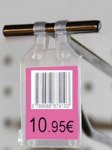 Porta Precio Plástico para Gancho (100 unidades)
