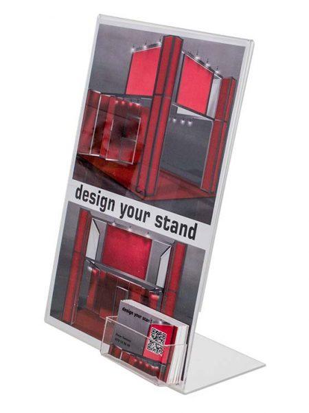 Soporte publicidad con dispensador de tarjetas (5 unidades)