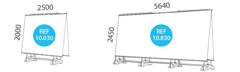 Banner XL doble para exterior medidas