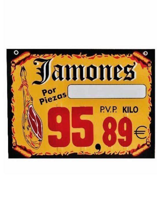 cartel para jamones