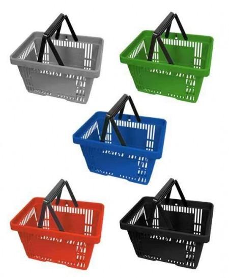 Cesta de plástico para autoservicio (5 unidades)