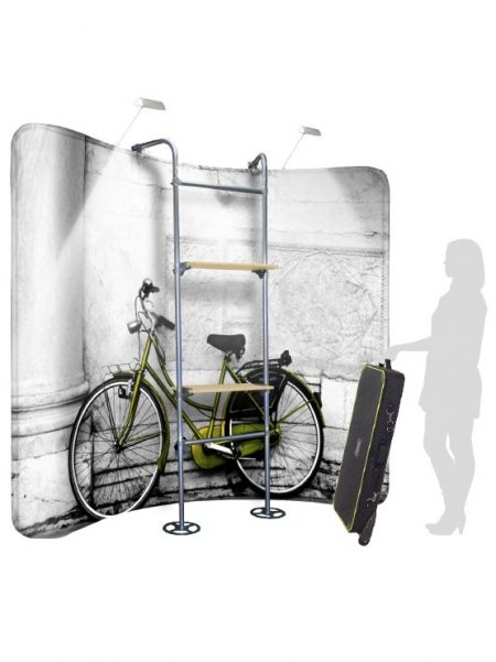 Display Exposición con estantes