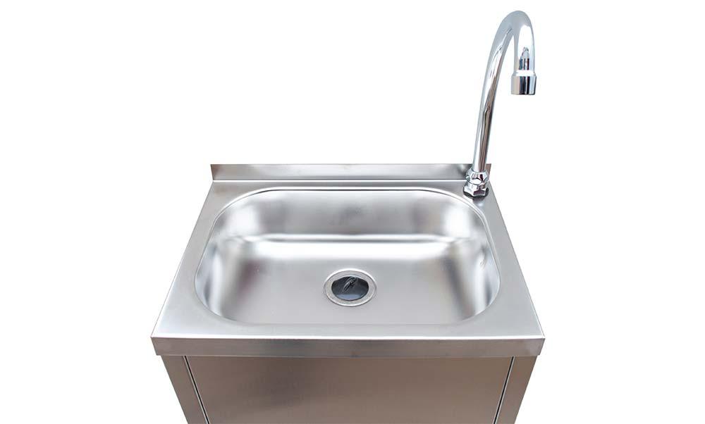 lavamanos acero inoxidable detalle fregadero