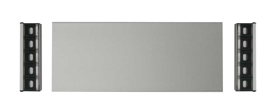 Letrero de aluminio modelo Bargello ejemplo y despiece