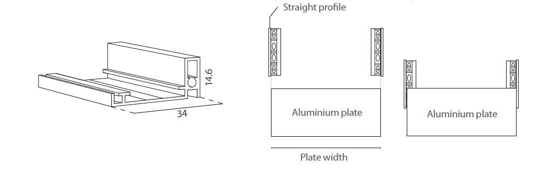 Letrero de aluminio modelo Bargello medidas 2020