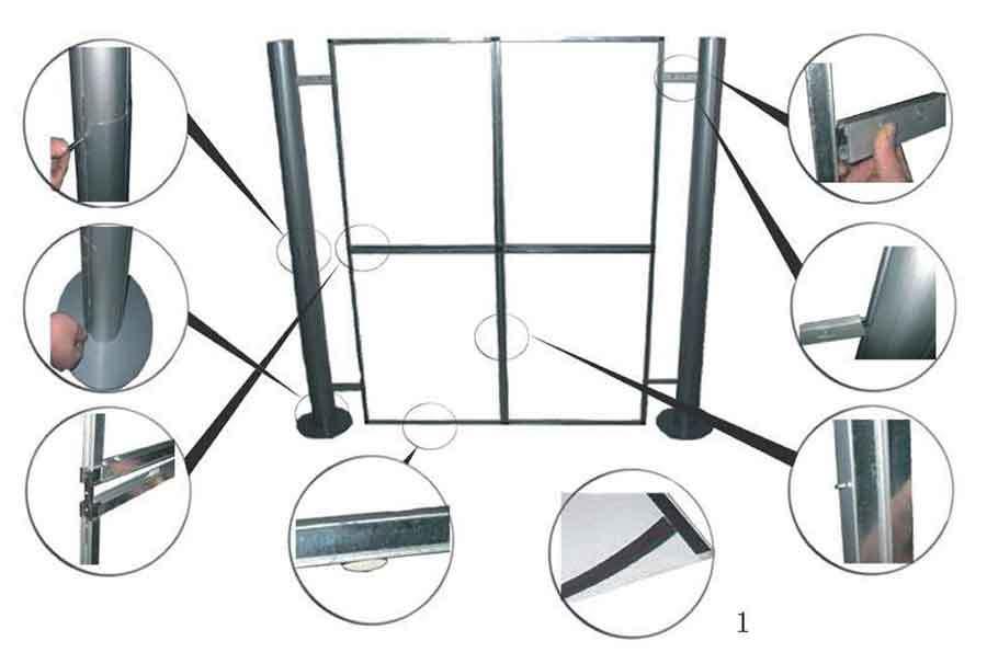 Panel Magnético publicitario modelo Vidago montaje