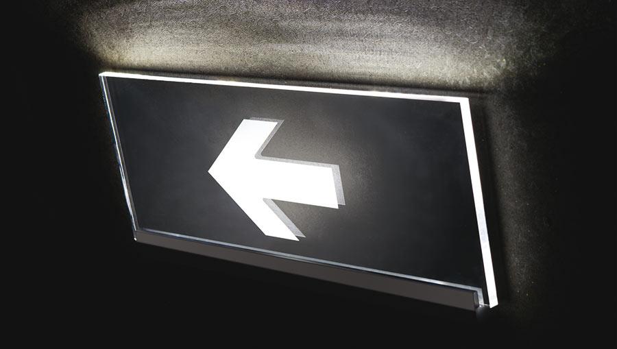 Perfil LED para letreros ejemplo