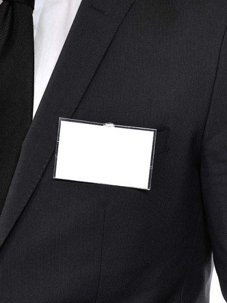 Porta tarjeta con clip (50 unidades)