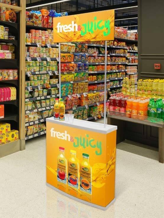 Promoción de productos ejemplo en supermercado