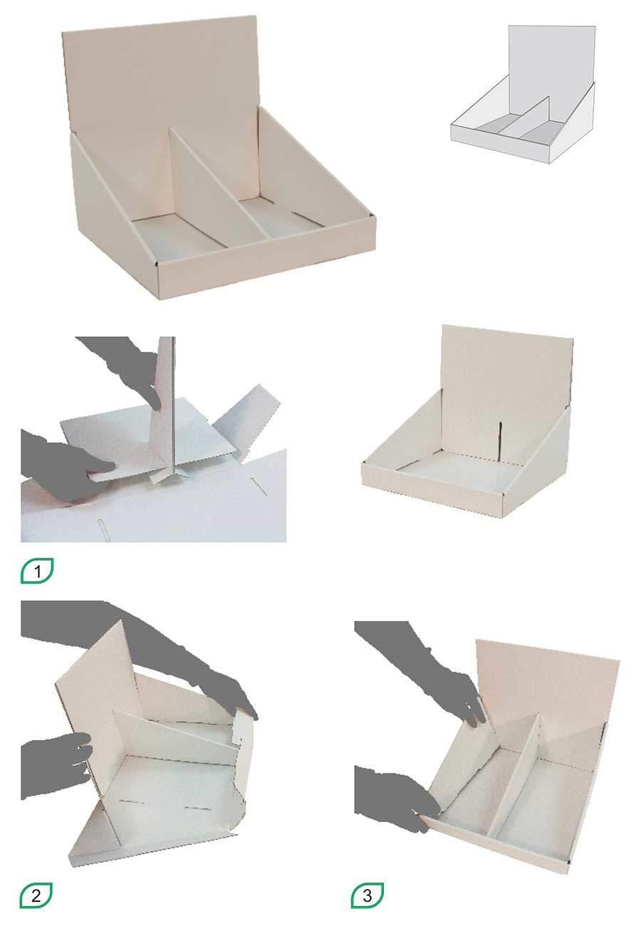 Expositor cartón modelo Burdeos