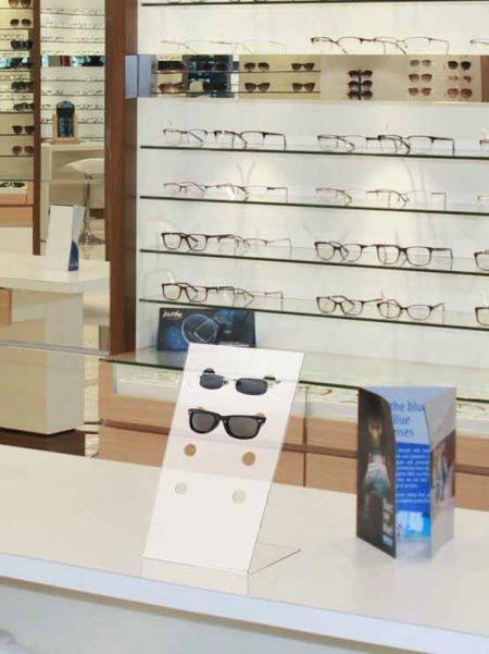 Expositor de metacrilato para gafas (5 unidades)