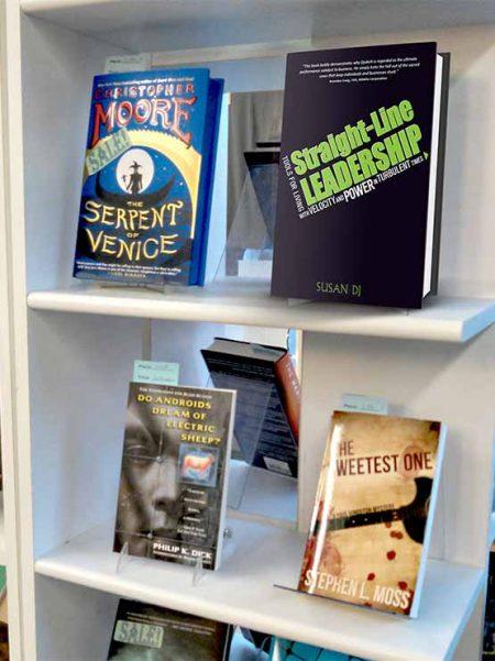 Expositor de metacrilato para libros (5 unidades)