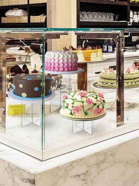 Expositor de metacrilato para tartas (5 unidades)