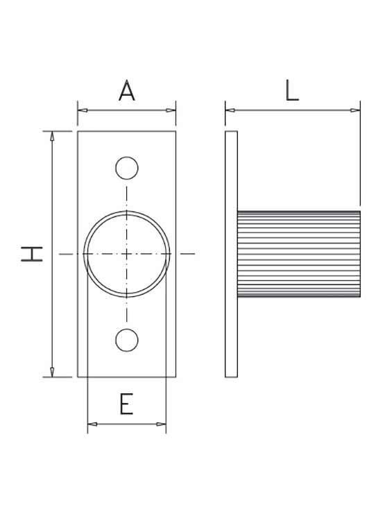 soporte lateral para tubo medidas