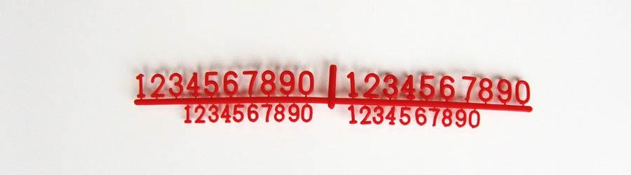 PortaPrecios Charcutería modelo olmo juego números
