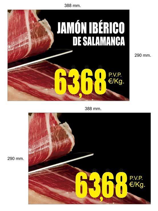 Cartel Jamón Grande 2018