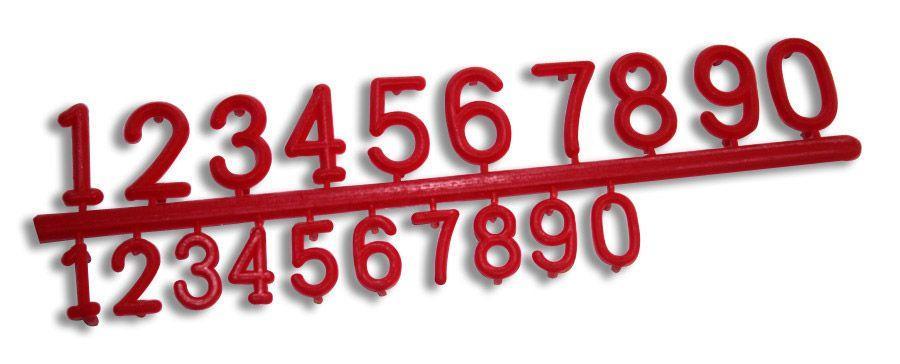 Juego Números Rojos para Cartel Precio