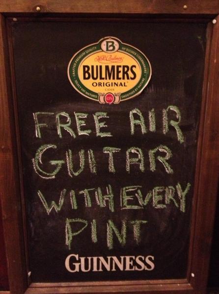 pizarra para bares