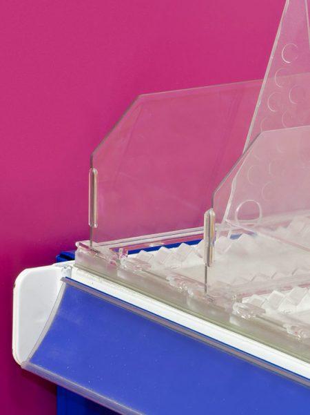 Divisor Plástico Transparente 60 mm (25 unidades)