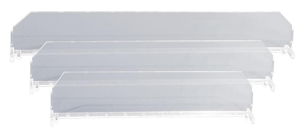 Divisor Plástico Transparente 60 mm de altura ejemplo