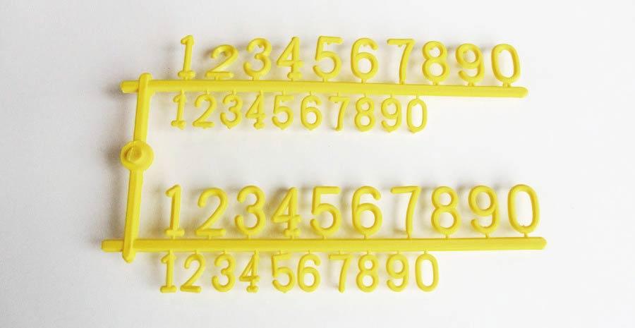 PortaPrecios Huevos juego de números