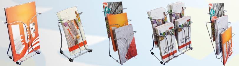 dispensador de folletos varilla de acero