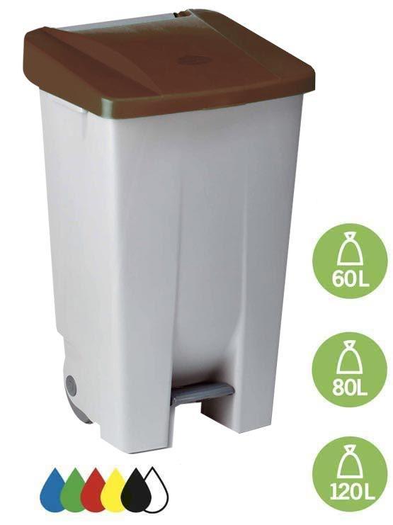 Contenedor de reciclaje selectivo con tapa 2019