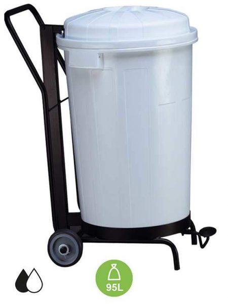 Contenedores de basura goliat con ruedas