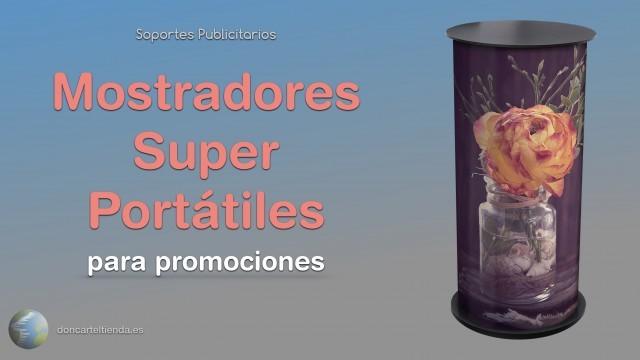 Mostradores super portátiles para promociones publicitarias