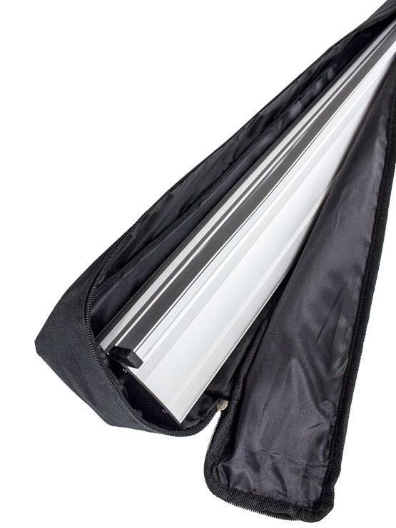 bolsa acolchada con doble cremallera