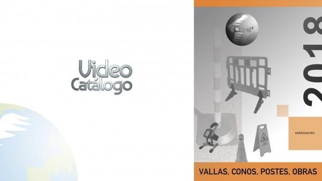 Vallas conos postes obras video catalogo 2018