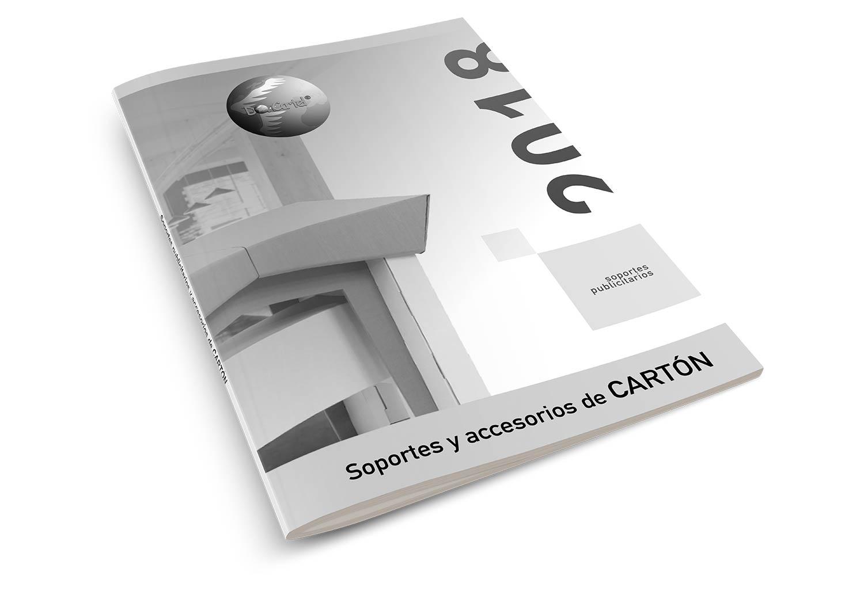 Publicidad con cartón catálogo 2018