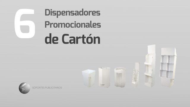 Dispensadores promocionales de cartón 2018