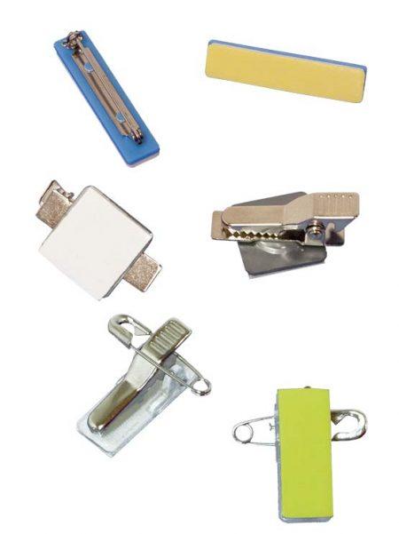 Pin porta tarjeta adhesivo (100 unidades)