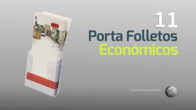 Porta folletos económicos de plástico