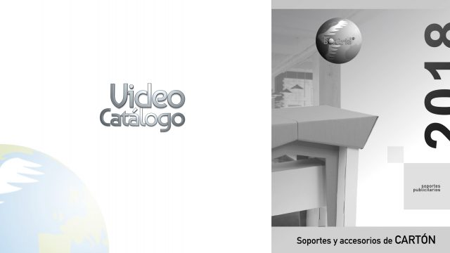 Publicidad en cartón video catálogo 2018