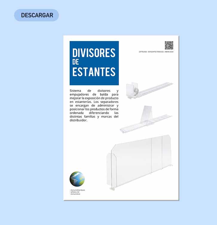 divisores de estantes descargar catálogo