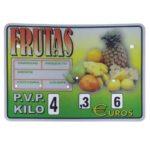 cartel frutas con ruedas modelo Cubano