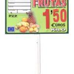 Porta precios frutas 2020 (paleta, ganchos o pletinas)