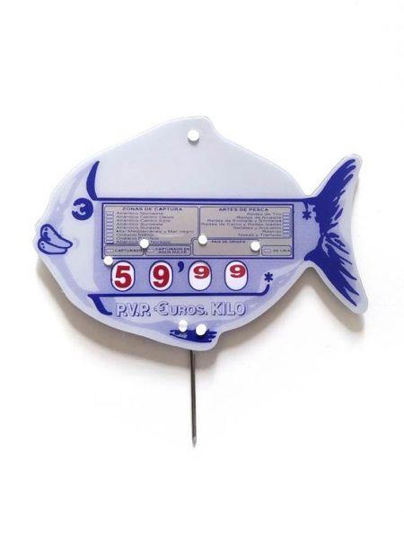 Portaprecios pescadería pincho modelo pescadero