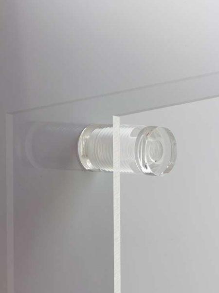 Separadores transparentes para letreros a pared (4 unidades)
