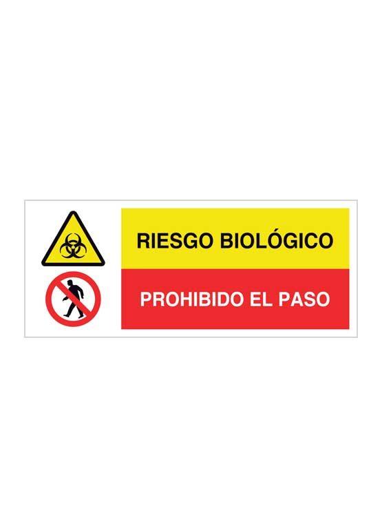 Riesgo biológico y prohibido el paso