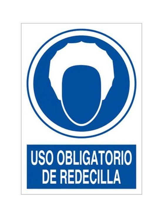 Cartel uso obligatorio de redecilla