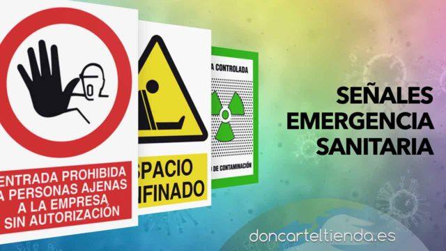 Carteles emergenia sanitaria
