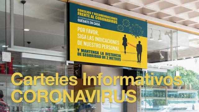 Carteles informativos coronavirus