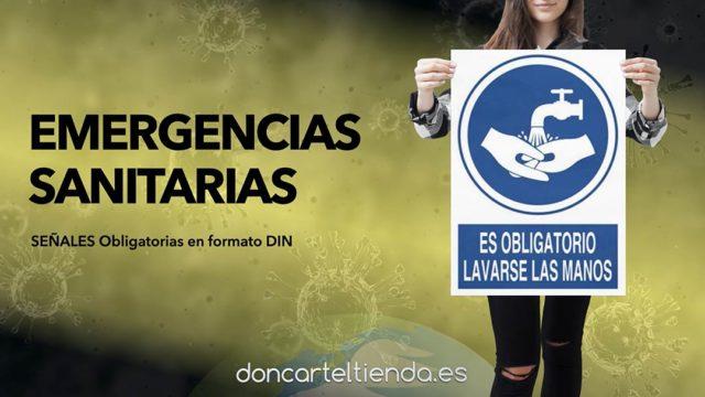 Emergencias sanitarias carteles obligación