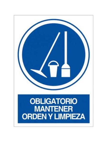 Cartel obligatorio mantener orden y limpieza